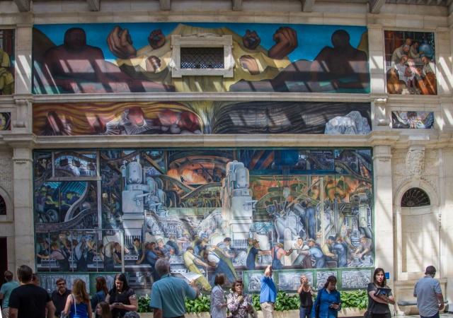 Labor day larry 39 s blog for Detroit mural factory