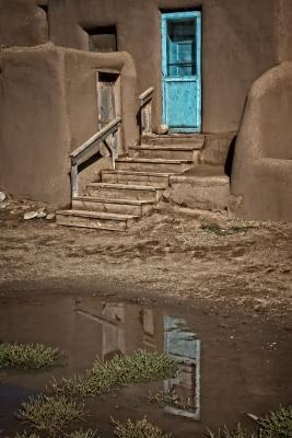 Blue Doors of Taos Pueblo