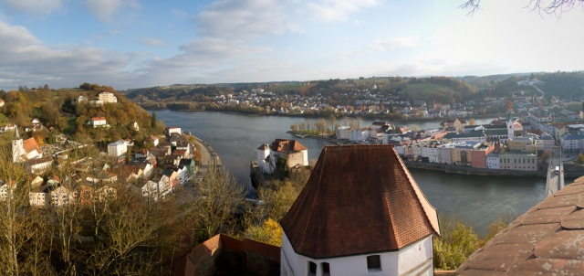 View from Passau fortress